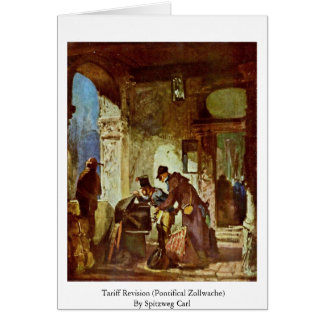 Tariff Revision (Pontifical Zollwache) Greeting Card