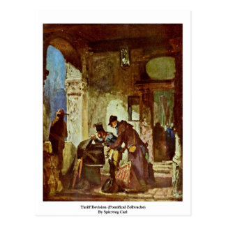 Tariff Revision (Pontifical Zollwache) Postcard