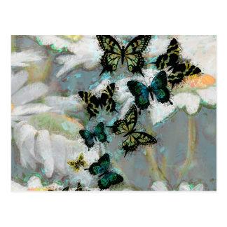 Tarimas y mariposas postales