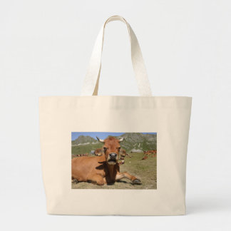 Tarine cow in the French Alps Jumbo Tote Bag