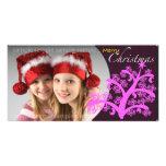 Tarjeta 004 de la foto del navidad tarjeta fotografica