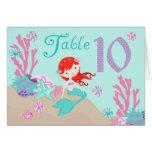 Tarjeta 10 castaños de la tabla de little mermaid
