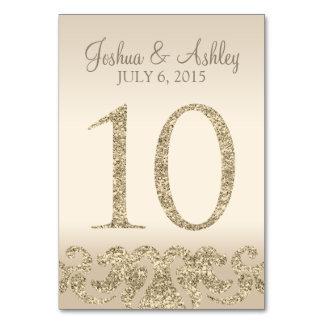 Tarjeta 10 de la Número-Tabla de la tabla del boda