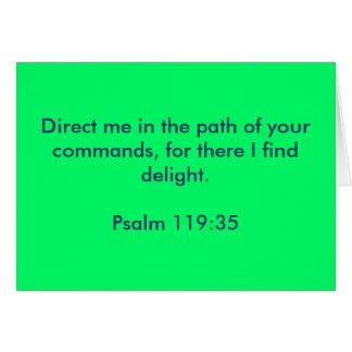 Tarjeta - 119:35 del salmo
