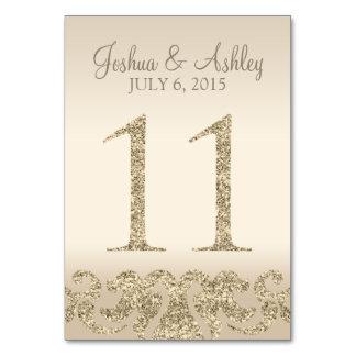 Tarjeta 11 de la Número-Tabla de la tabla del boda