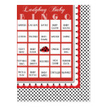 Tarjeta 11 del bingo de la fiesta de bienvenida al