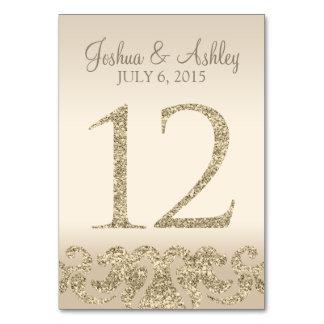 Tarjeta 12 de la Número-Tabla de la tabla del boda