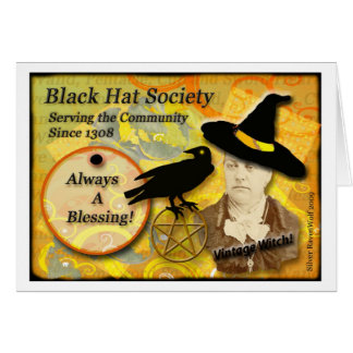 Tarjeta 1308 de felicitación del gorra negro del v