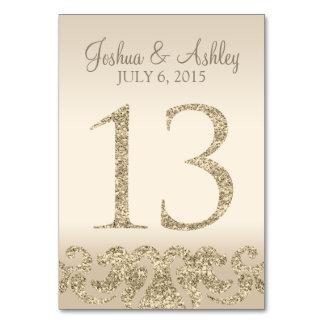 Tarjeta 13 de la Número-Tabla de la tabla del boda