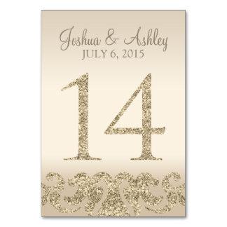 Tarjeta 14 de la Número-Tabla de la tabla del boda