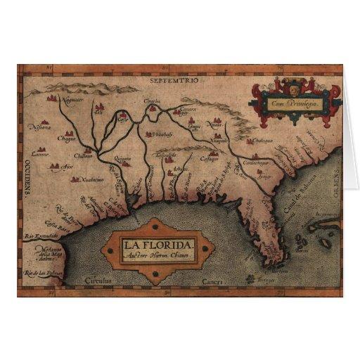 Tarjeta 1584 del mapa de la Florida del La