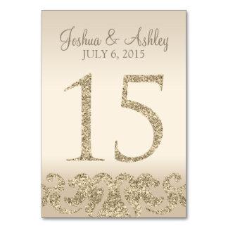Tarjeta 15 de la Número-Tabla de la tabla del boda