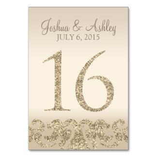 Tarjeta 16 de la Número-Tabla de la tabla del boda