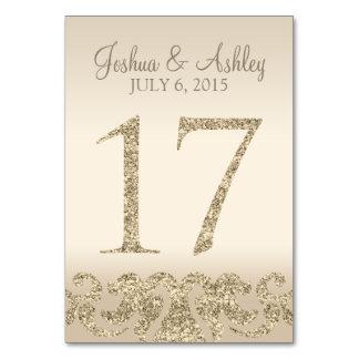 Tarjeta 17 de la Número-Tabla de la tabla del boda