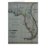 Tarjeta 1823 del mapa de la Florida