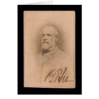 Tarjeta 1860 de Roberto E. Lee Signed