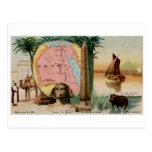 Tarjeta 1889 del vintage de Egipto Postales