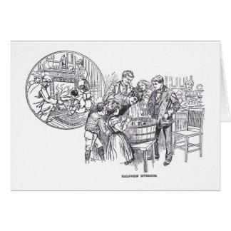 Tarjeta 1899 del ejemplo del vintage del fiesta de