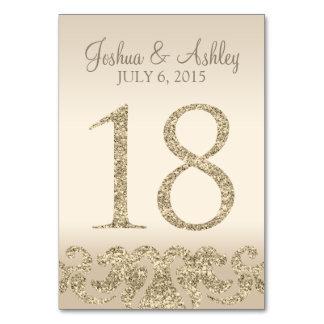 Tarjeta 18 de la Número-Tabla de la tabla del boda