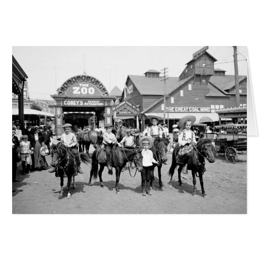 Tarjeta 1904 de felicitación de Coney Island NY