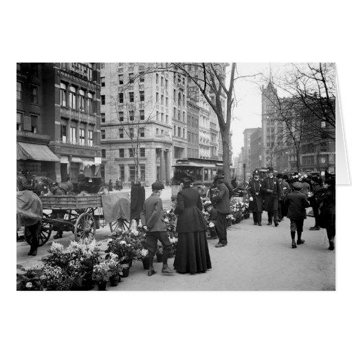 Tarjeta 1904 de felicitación de Pascua Fowers NYC