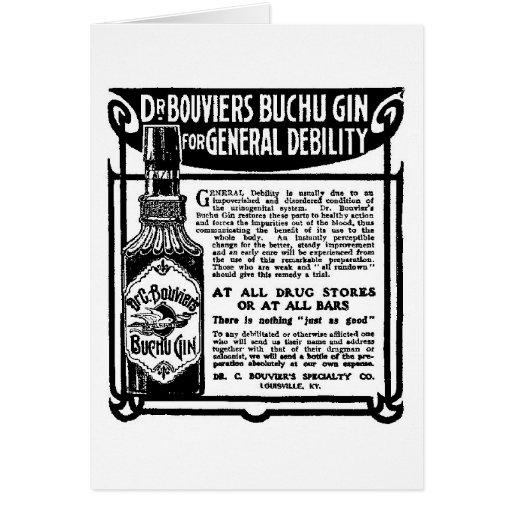 Tarjeta 1905 del anuncio de periódico de la ginebr