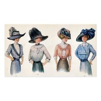 Tarjeta 1910 de visita de la moda de París Tarjetas De Visita