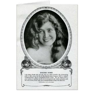 Tarjeta 1914 del retrato del vintage de Brydine Zu