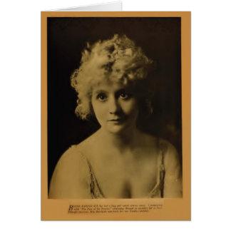 Tarjeta 1918 del retrato del vintage de Bessie Bar