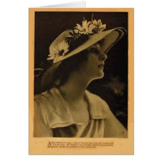 Tarjeta 1918 del retrato del vintage del marinero