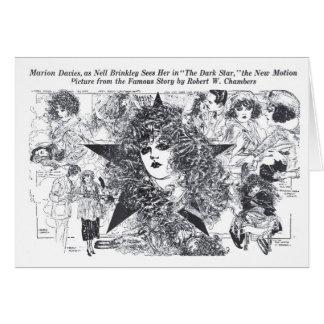 Tarjeta 1919 de dibujos del vintage de Marion Davi