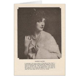 Tarjeta 1919 del retrato del vintage de Marion Dav