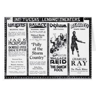 Tarjeta 1920 del anuncio de la película del vintag