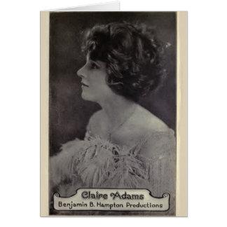 Tarjeta 1921 del retrato del vintage de Claire Ada
