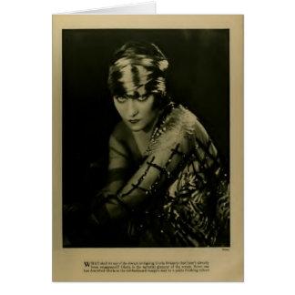 Tarjeta 1922 del retrato del vintage de Gloria Swa
