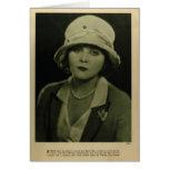 Tarjeta 1923 del retrato del vintage de Theda Bara