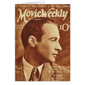 Tarjeta 1924 de la revista de la película del vint