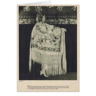Tarjeta 1924 del retrato del vintage de Marion Dav