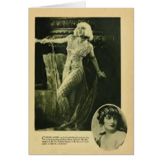 Tarjeta 1925 del retrato del vintage de Carmel Mye