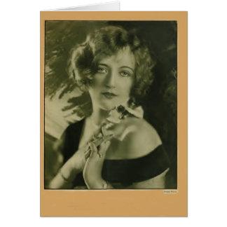 Tarjeta 1925 del retrato del vintage de Marion Dav
