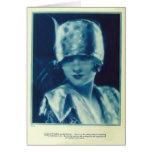 Tarjeta 1925 del retrato del vintage de Myrna Loy