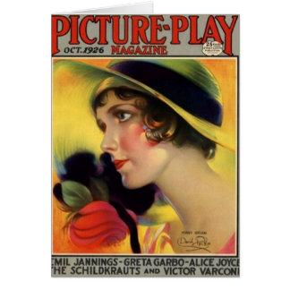 Tarjeta 1926 de la revista de la película del vint