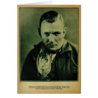 Tarjeta 1926 del retrato del vintage de Jones del