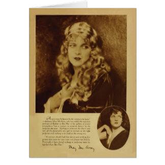 Tarjeta 1926 del retrato del vintage de mayo McAvo