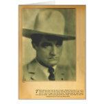 Tarjeta 1928 del retrato del vintage de Tom Mix