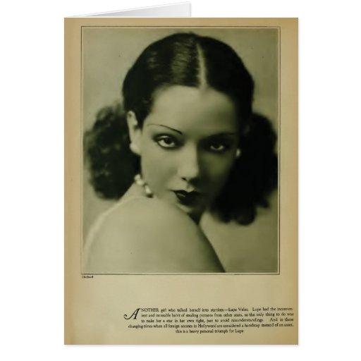 Tarjeta 1929 del retrato del vintage de Lupe Velez