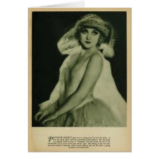 Tarjeta 1929 del retrato del vintage del lombardo