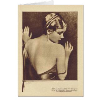 Tarjeta 1931 del retrato del vintage de Helen Twel