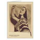Tarjeta 1931 del retrato del vintage de Pola Negri