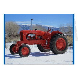 Tarjeta 1955 de felicitación del tractor de Allis